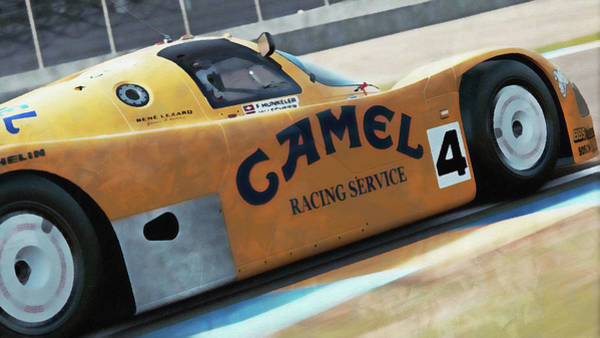 Painting - Porsche 962c Lang Heck Team Brun Camel - 05 by Andrea Mazzocchetti