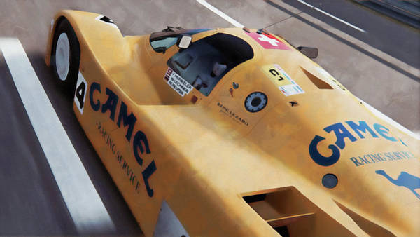 Painting - Porsche 962c Lang Heck Team Brun Camel - 08 by Andrea Mazzocchetti