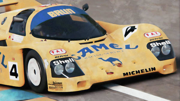 Painting - Porsche 962c Lang Heck Team Brun Camel - 10 by Andrea Mazzocchetti