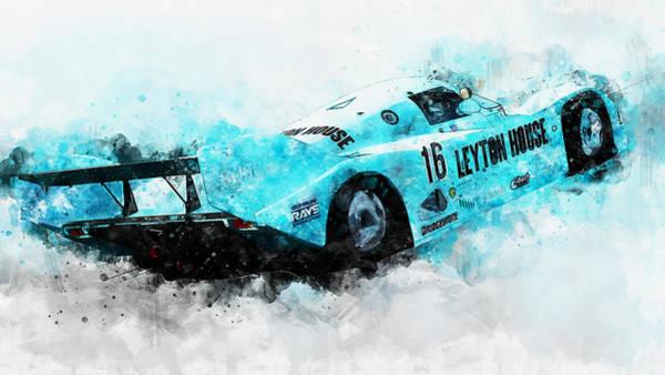 Painting - Porsche 962c Leyton House - 27 by Andrea Mazzocchetti