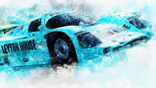 Painting - Porsche 962c Leyton House - 28 by Andrea Mazzocchetti