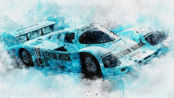 Painting - Porsche 962c Leyton House - 29 by Andrea Mazzocchetti