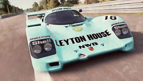 Painting - Porsche 962c Leyton House - 31 by Andrea Mazzocchetti