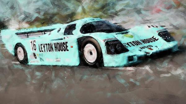 Painting - Porsche 962c Leyton House - 32 by Andrea Mazzocchetti