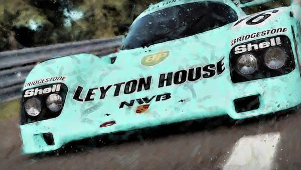 Painting - Porsche 962c Leyton House - 33 by Andrea Mazzocchetti