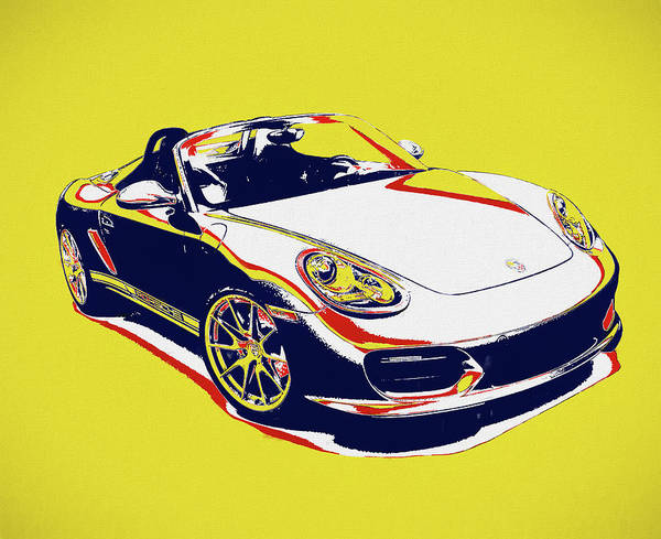 Painting - Porsche Boxster Pop Art by Dan Sproul
