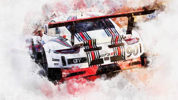Painting - Porsche Gt3 Martini Racing - 49 by Andrea Mazzocchetti
