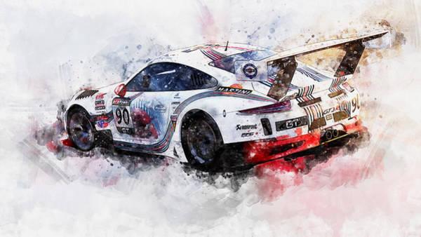 Painting - Porsche Gt3 Martini Racing - 50 by Andrea Mazzocchetti