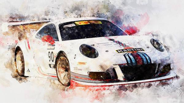 Painting - Porsche Gt3 Martini Racing - 51 by Andrea Mazzocchetti