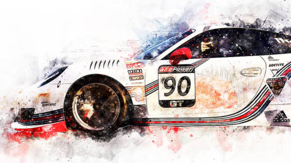 Painting - Porsche Gt3 Martini Racing - 52 by Andrea Mazzocchetti