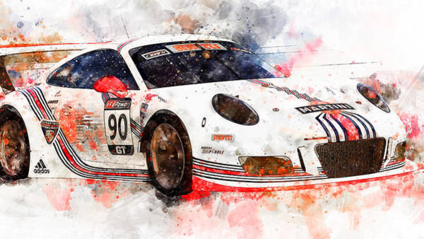 Painting - Porsche Gt3 Martini Racing - 53 by Andrea Mazzocchetti