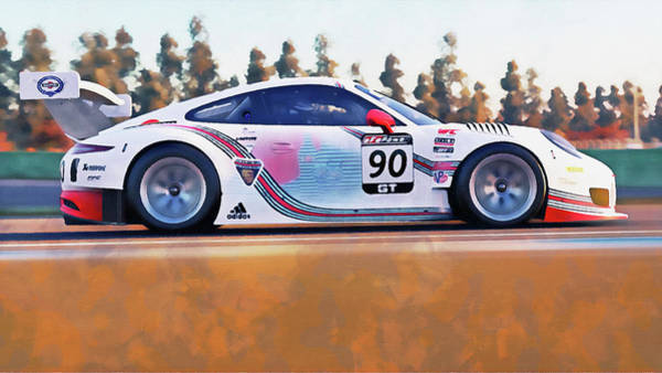 Painting - Porsche Gt3 Martini Racing - 54 by Andrea Mazzocchetti