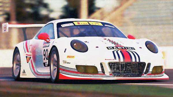 Painting - Porsche Gt3 Martini Racing - 55 by Andrea Mazzocchetti