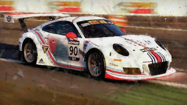 Painting - Porsche Gt3 Martini Racing - 56 by Andrea Mazzocchetti