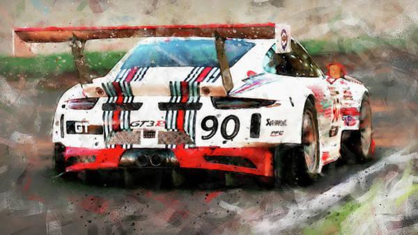 Painting - Porsche Gt3 Martini Racing - 57 by Andrea Mazzocchetti