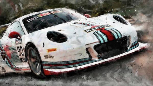 Painting - Porsche Gt3 Martini Racing - 58 by Andrea Mazzocchetti