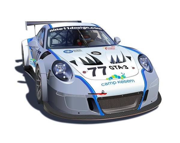 Wall Art - Drawing - Porsche Gt3 Mr No Background by Alain Jamar