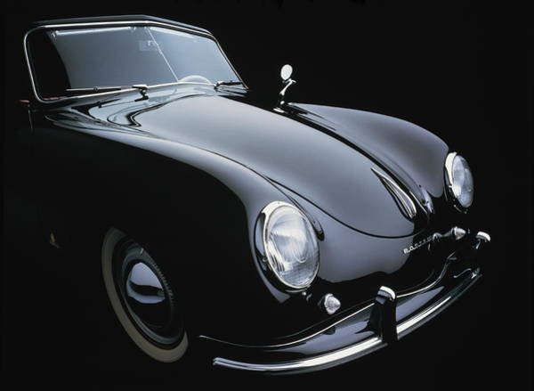Black Background Photograph - Porsche Pre-a Cabriolet 1500, 1952 by Ken Fisher