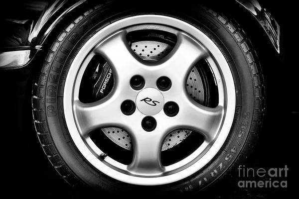 Tyre Wall Art - Photograph - Porsche Rs Wheel Monochrome by Tim Gainey