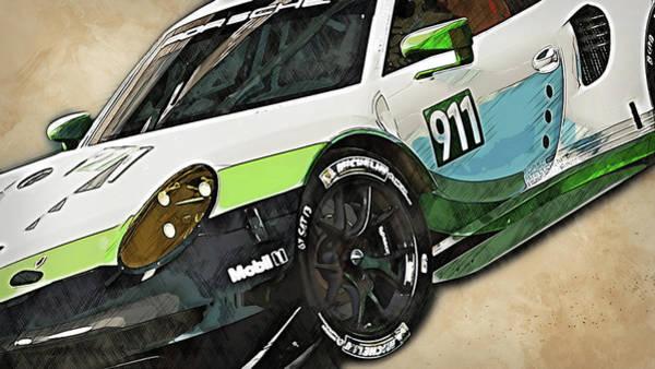 Painting - Porsche Rsr 2019 - 03 by Andrea Mazzocchetti