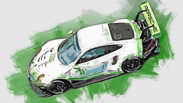 Painting - Porsche Rsr 2019 - 05 by Andrea Mazzocchetti