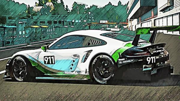 Painting - Porsche Rsr 2019 - 09 by Andrea Mazzocchetti