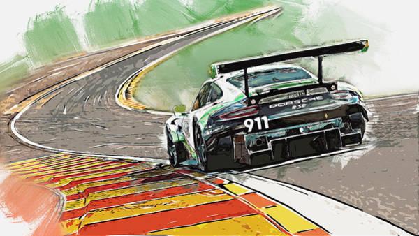 Painting - Porsche Rsr 2019 - 11 by Andrea Mazzocchetti