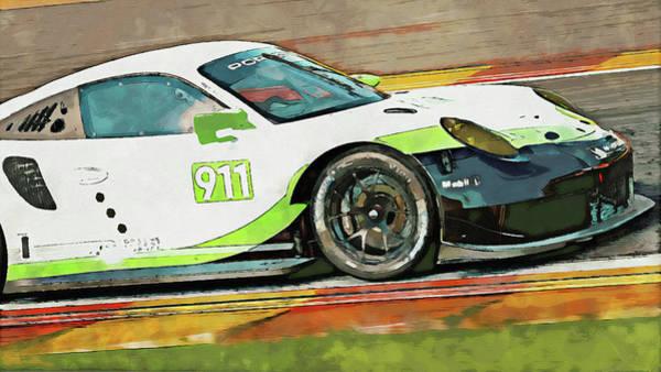 Painting - Porsche Rsr 2019 - 21 by Andrea Mazzocchetti