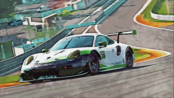 Painting - Porsche Rsr 2019 - 22 by Andrea Mazzocchetti