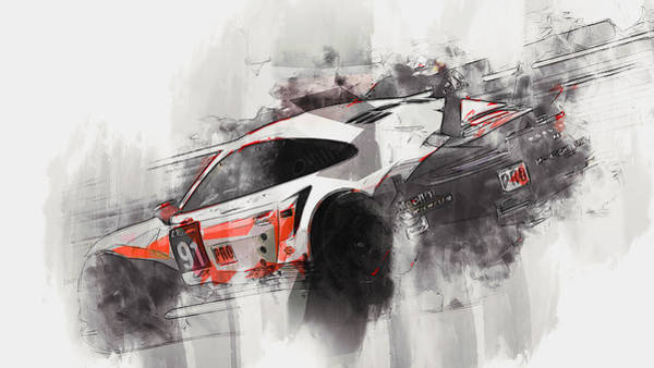 Painting - Porsche Rsr 2019 - 25 by Andrea Mazzocchetti