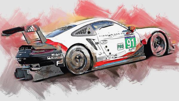 Painting - Porsche Rsr 2019 - 26 by Andrea Mazzocchetti