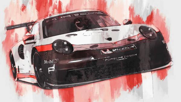 Painting - Porsche Rsr 2019 - 27 by Andrea Mazzocchetti