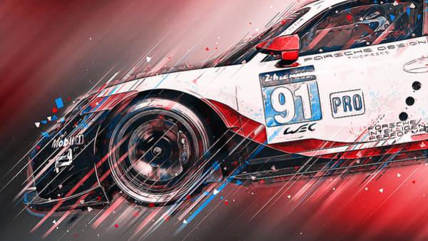 Painting - Porsche Rsr 2019 - 28 by Andrea Mazzocchetti