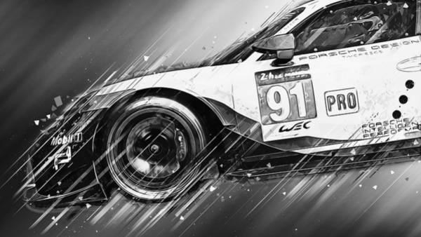 Painting - Porsche Rsr 2019 - 29 by Andrea Mazzocchetti