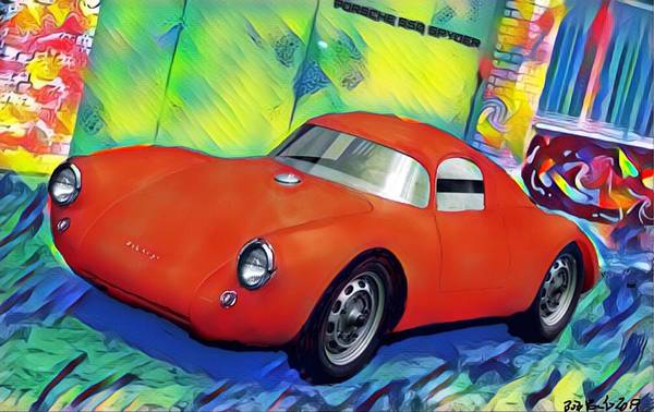 Wall Art - Digital Art - Porsche Spyder 24 by Robert Polys