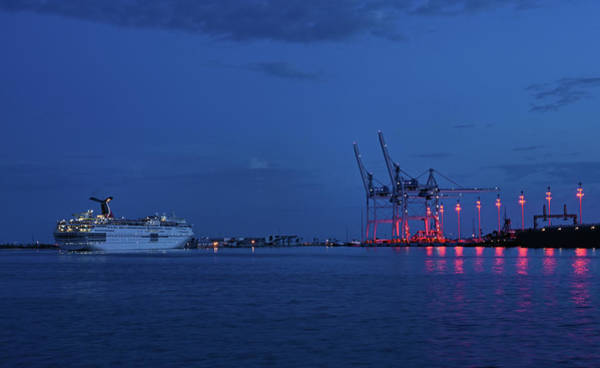 Wall Art - Photograph - Port Canaveral Blue Hour by Ben Prepelka