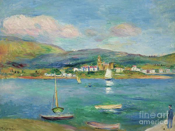 Wall Art - Painting - Port De Peche, Vue De Fontarabie Depuis Hendaye, 1895 by Pierre Auguste Renoir