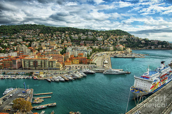 Photograph - Port Lympia The Port Of Nice France by Wayne Moran