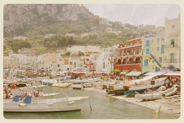 Port Of Capri, Italy - Vintage Postcard Art Print