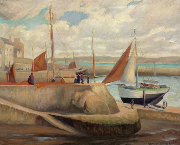 Wall Art - Painting - Port Of Douarnenez, 1933 by Alexander Warshawsky