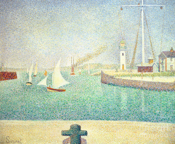 Wall Art - Painting - Port Of Honfleur  1886 by Georges Pierre Seurat