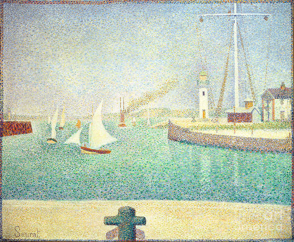 Wall Art - Painting - Port Of Honfleur, Circa 1886 by Georges Pierre Seurat