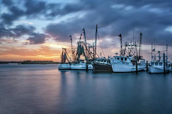 Photograph - Port Orange Fishing Boats by Tom Singleton