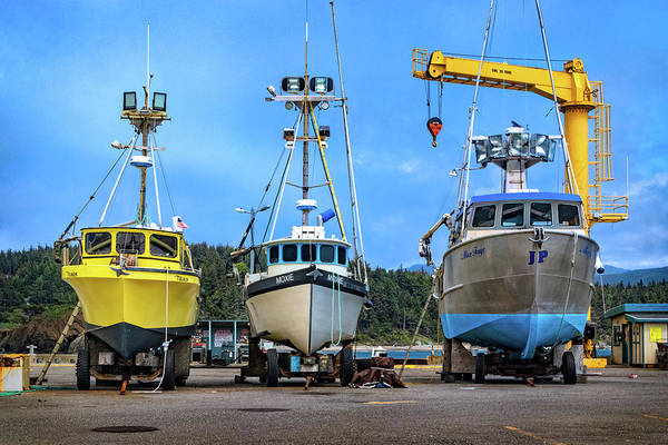 Photograph - Port Orford Dolly Dock by Carolyn Derstine