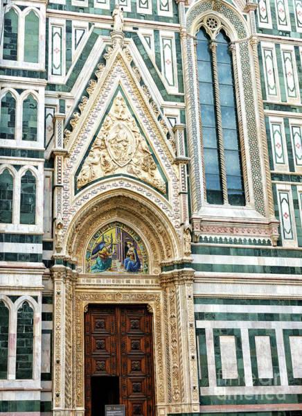 Photograph - Porta Della Mandorla At The Florence Cathedral by John Rizzuto