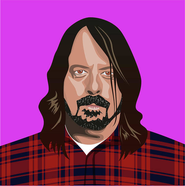 Wall Art - Digital Art - Portait Of Dave Grohl by Claire Huntley