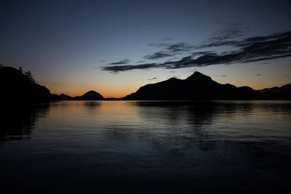 Bluehour Photograph - Porteau Cove December Night by Monte Arnold