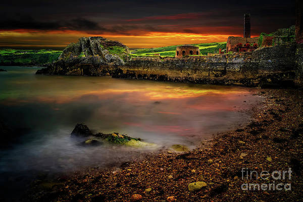 Photograph - Porth Wen Brickworks Sunset by Adrian Evans
