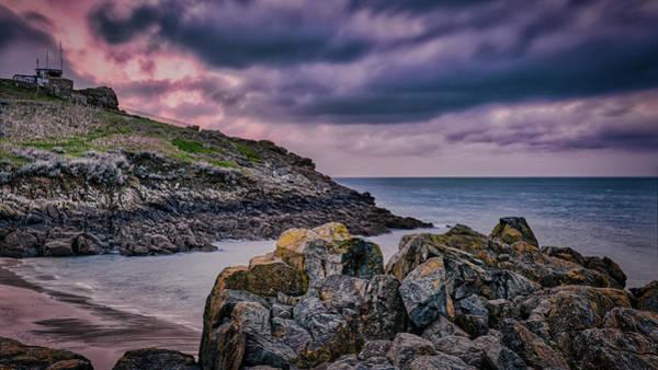 Photograph - Porthgwidden Dramatic Sky by Eddy Kinol