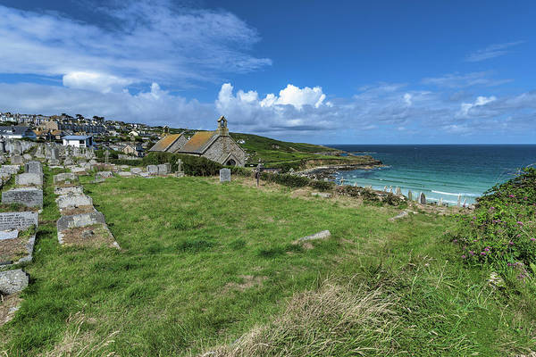 Photograph - Porthmeor From Barnoon - St Ives Cornwall by Eddy Kinol